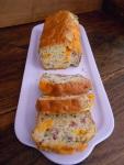 Cake magret de canard, échalotes, mimolette